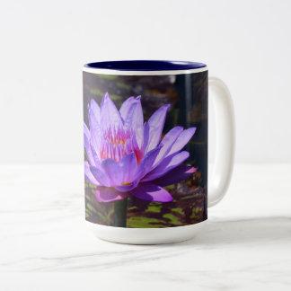 Purple Tropical waterlily 15 oz mug #2 2017