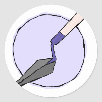 Purple Trowel - Archaeologist's Tool Kit Classic Round Sticker