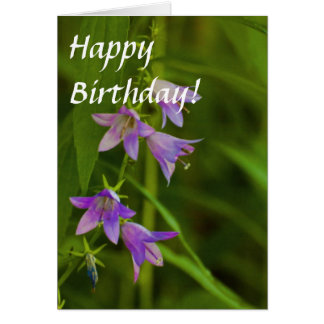 Purple Trumpets wildflowers Card