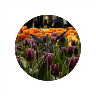 Purple Tulip Clocks