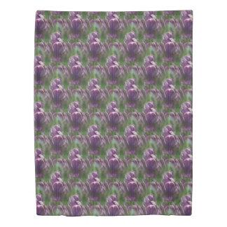 Purple Tulip Flower Nature Pattern Duvet Cover