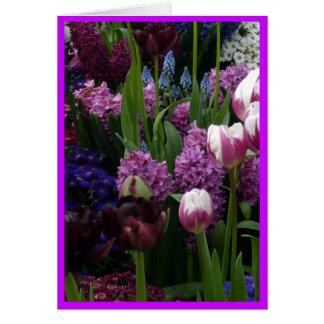 Purple Tulip Hyacinths Card