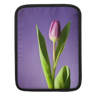 Purple tulip iPad sleeve