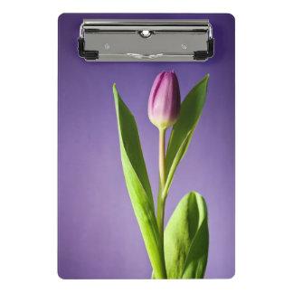 Purple tulip mini clipboard