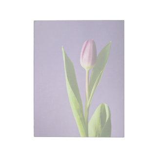 Purple tulip notepad