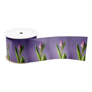 Purple tulip satin ribbon
