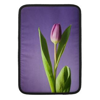 Purple tulip sleeve for MacBook air