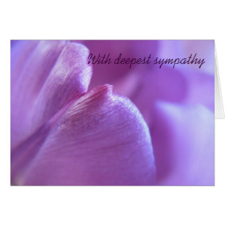 Purple Tulip Sympathy Card