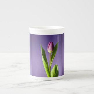 Purple tulip tea cup