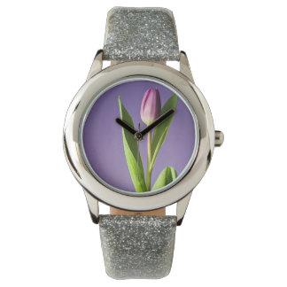 Purple tulip watch