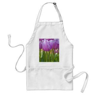 Purple Tulips Blooming in Spring Standard Apron
