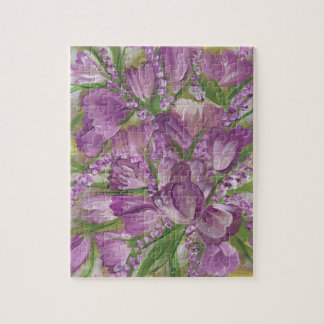 Purple Tulips Jigsaw Puzzle