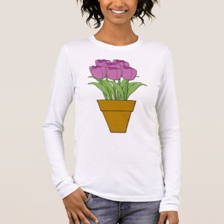 Purple Tulips Long Sleeve T-Shirt
