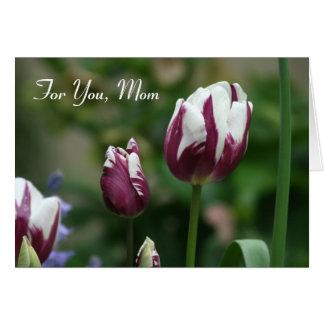 Purple Tulips Mom's Day Card