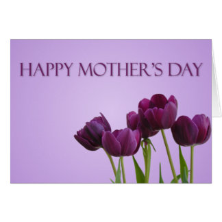 Purple Tulips Mother's Day Card
