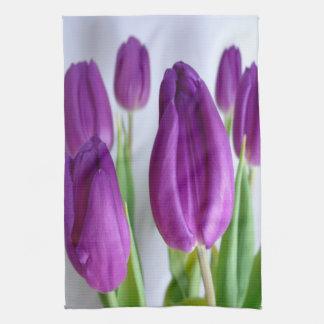 Purple Tulips Towels