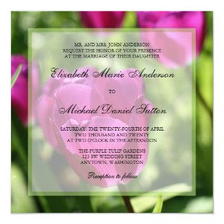 Purple Tulips Wedding Invitations