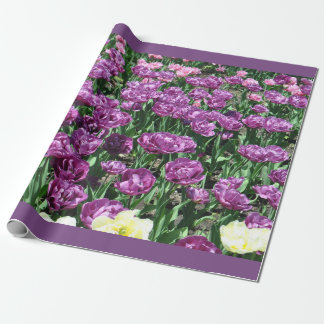 Purple Tulips Wrapping Paper
