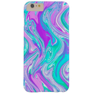 Purple Turquoise Abstract Twist Barely There iPhone 6 Plus Case