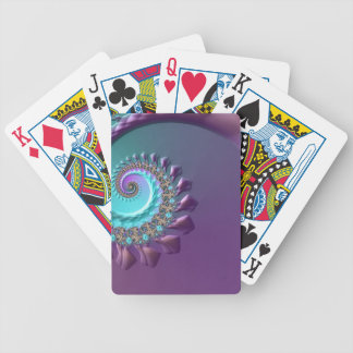 Purple Turquoise Bicycle Playing Cards