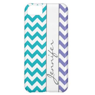 Purple & Turquoise Chevron Name iPhone5 iPhone 5C Cover