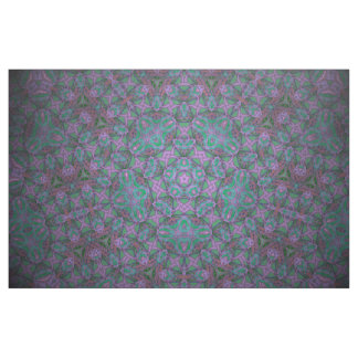 purple/turquoise kaleidoscope print fabric