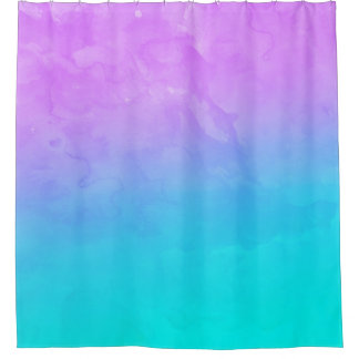 Purple turquoise mermaid watercolor ombre paint