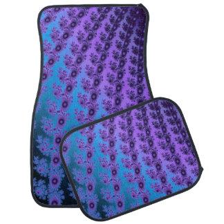 Purple Turquoise Spiral Fractal Auto Car Mat