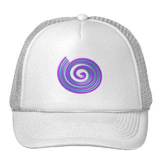 Purple Turquoise Spiral Trucker Hat