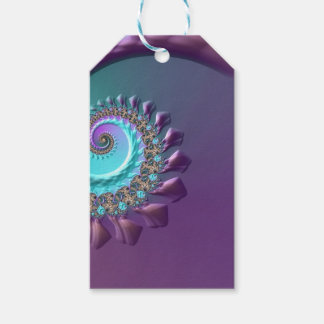 Purple Turquoise Swirl Gift Tags
