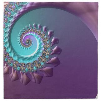 Purple Turquoise Swirl Napkin