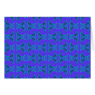 Purple Turquoise Tiki Pattern Card