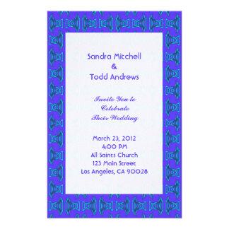 Purple Turquoise Tiki Wedding Stationery