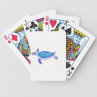 Purple Turtle Bicycle Playing Cards