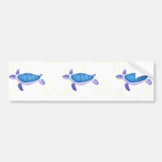 Purple Turtle Bumper Sticker