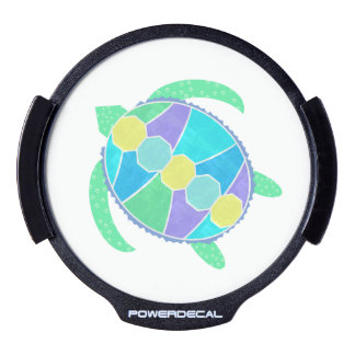 Purple Turtle LED Car Decal