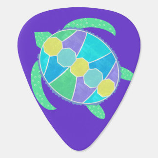 Purple Turtle Guitar Pick