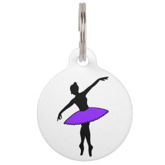 Purple Tutu Ballerina Ballet Dancer Dog Pet Tag