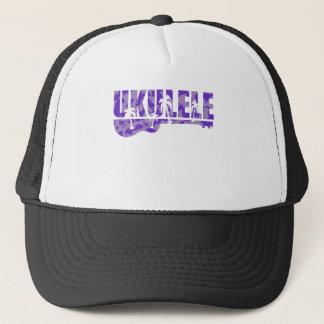 purple ukulele trucker hat