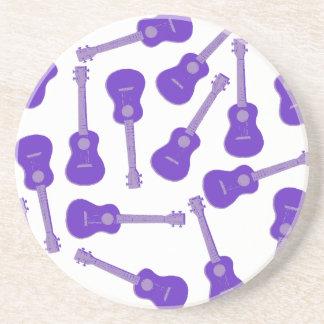 purple Ukuleles Coaster