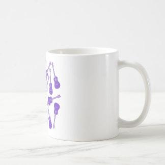 purple Ukuleles Coffee Mug
