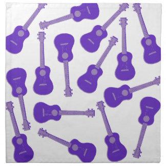 purple Ukuleles Napkin