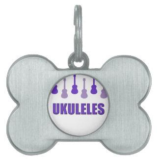 Purple Ukuleles Pet ID Tag