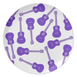 purple Ukuleles Plate
