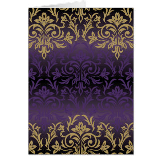 purple,ultra violet,damask,vintage,pattern,gold, card