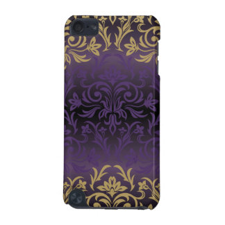 purple,ultra violet,damask,vintage,pattern,gold,ch iPod touch (5th generation) cases