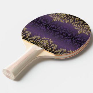 purple,ultra violet,damask,vintage,pattern,gold,ch ping pong paddle