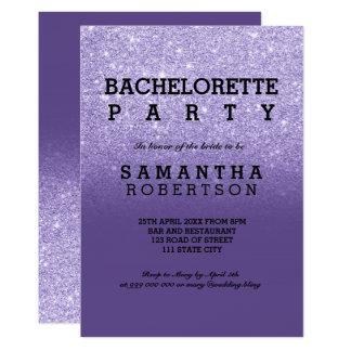 Purple ultra violet glitter bachelorette party card