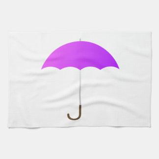 Purple Umbrella Hand Towels