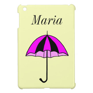 Purple umbrella iPad mini cover